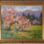 painting, spring scene, estate sale, glendale